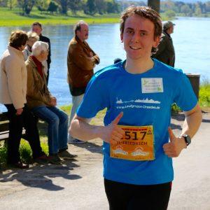 Kalle bei km10 - Laufgruppe Dresden